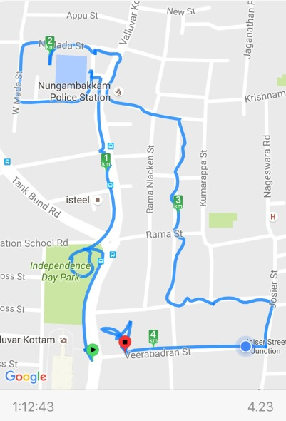 CPW Walking Route 2016-08-03