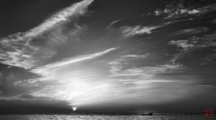 IR B&W Sunrise
