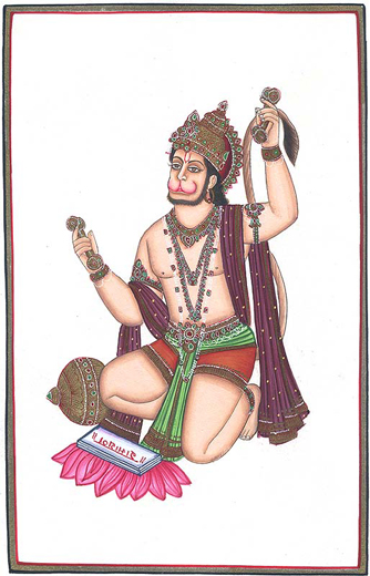 lord_hanuman_singing_bhajans_as