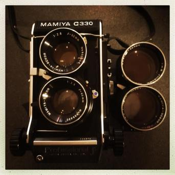 iPhone Capture of the Mamiya C330 Pro F with 80mm and 180mm lenses