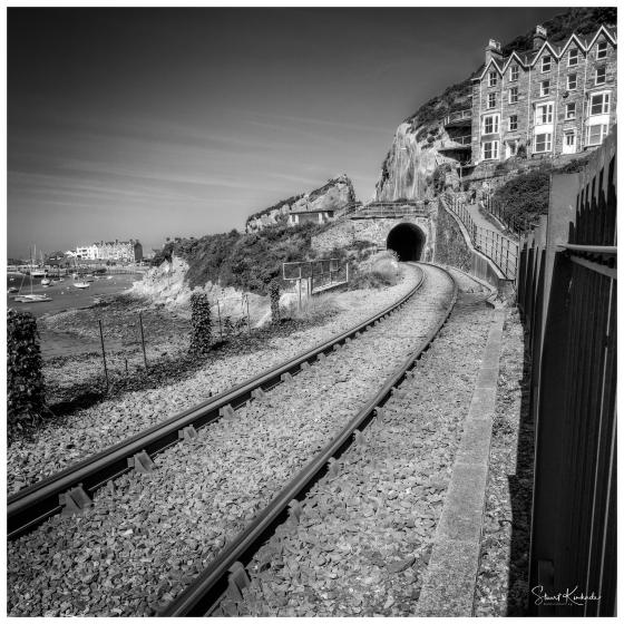 Mile Long Rail Bridge in Barmouth, Wales